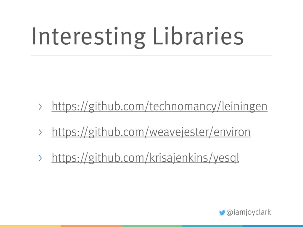 @iamjoyclark Interesting Libraries > https://gi...