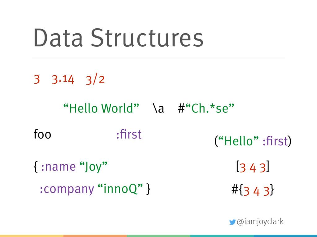 """@iamjoyclark Data Structures """"Hello World"""" 3 3...."""