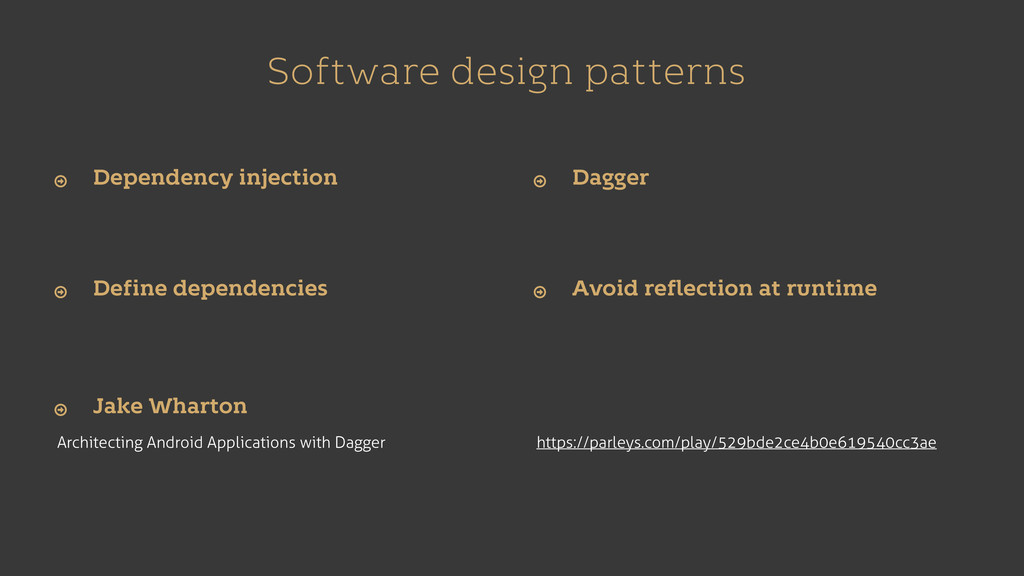 Software design patterns Architecting Android A...