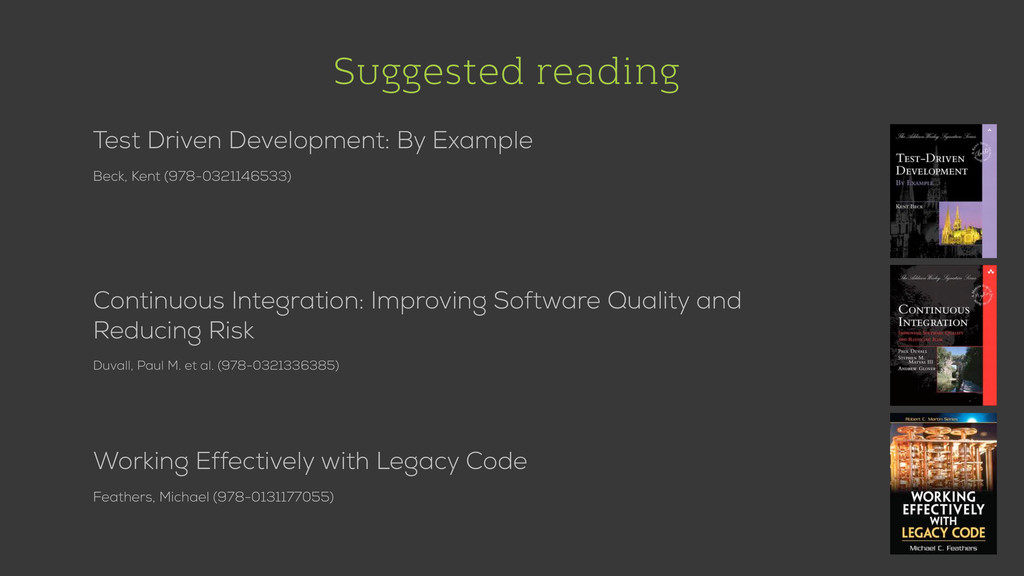 Suggested reading Test Driven Development: By E...