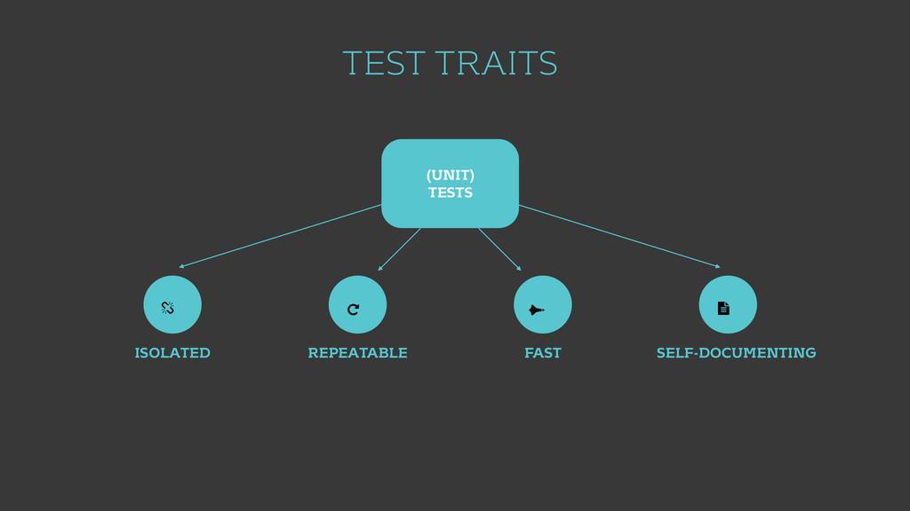 TEST TRAITS (UNIT) TESTS ISOLATED REPEATABLE FA...