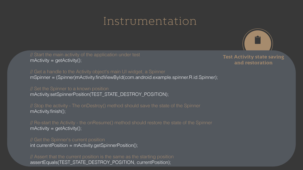 Instrumentation Test Activity state saving and ...