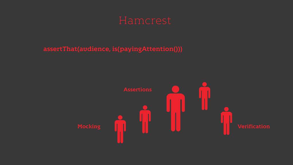 Hamcrest assertThat(audience, is(payingAttentio...