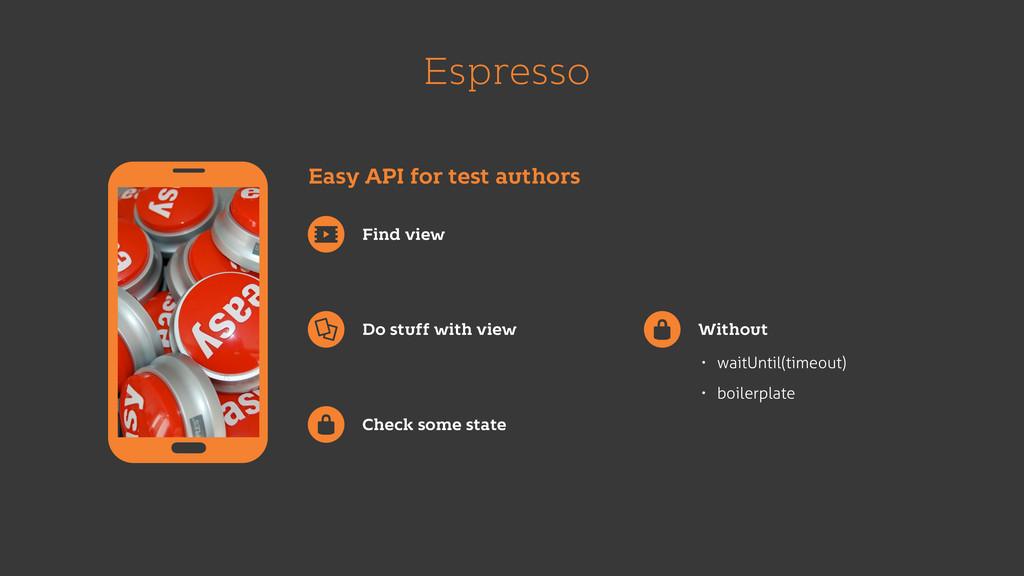 Espresso Easy API for test authors Find view Do...