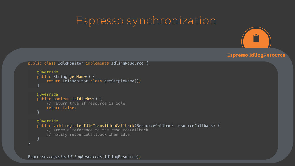 Espresso synchronization Espresso IdlingResourc...