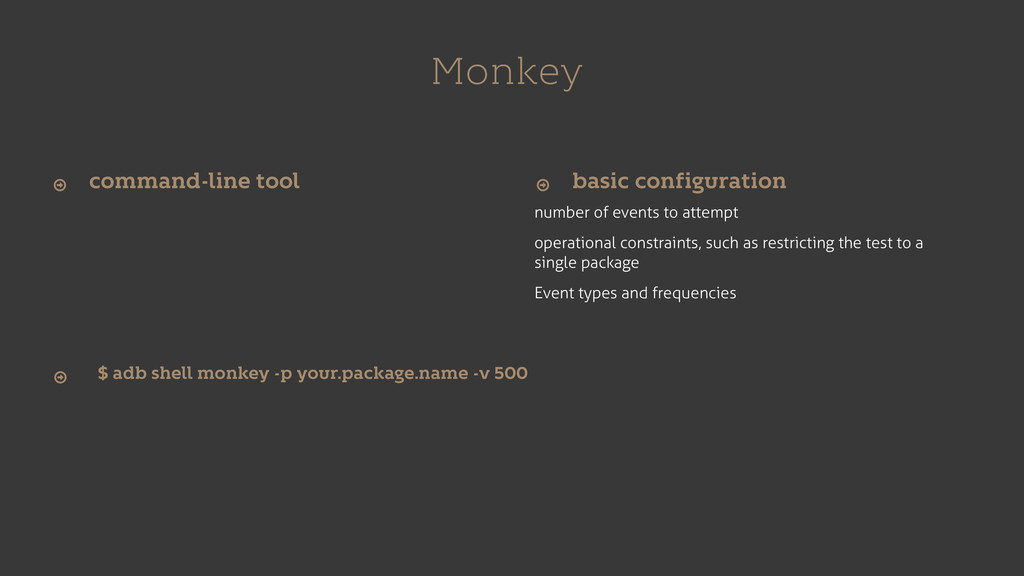 Monkey number of events to attempt operational ...