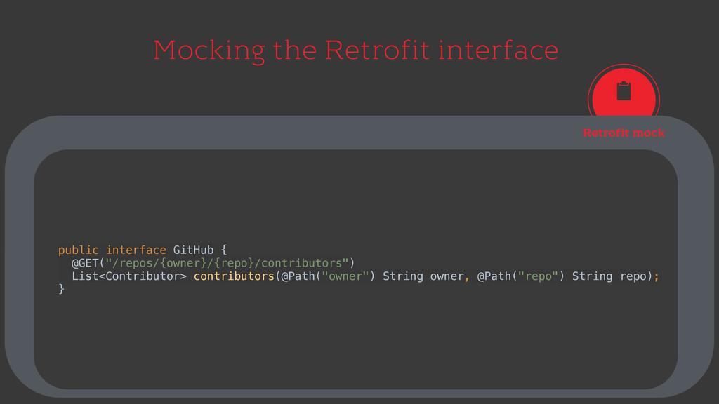 Mocking the Retrofit interface Retrofit mock pu...