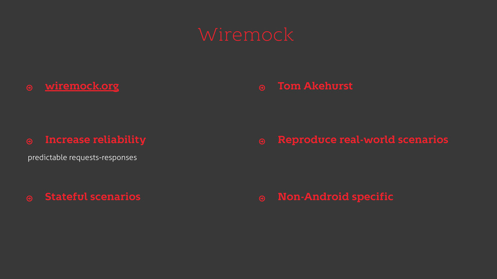 Wiremock predictable requests-responses wiremoc...