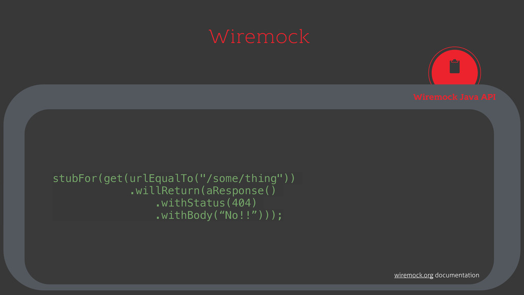 Wiremock Wiremock Java API stubFor(get(urlEqual...