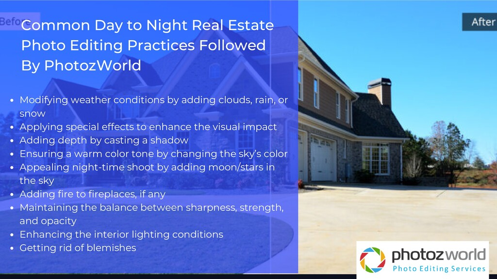 Common Day to Night Real Estate Photo Editing P...