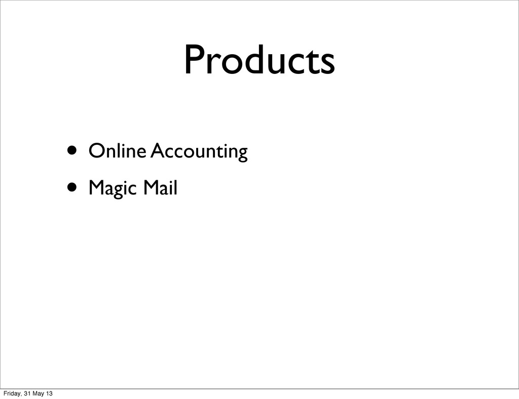 Products • Online Accounting • Magic Mail Frida...