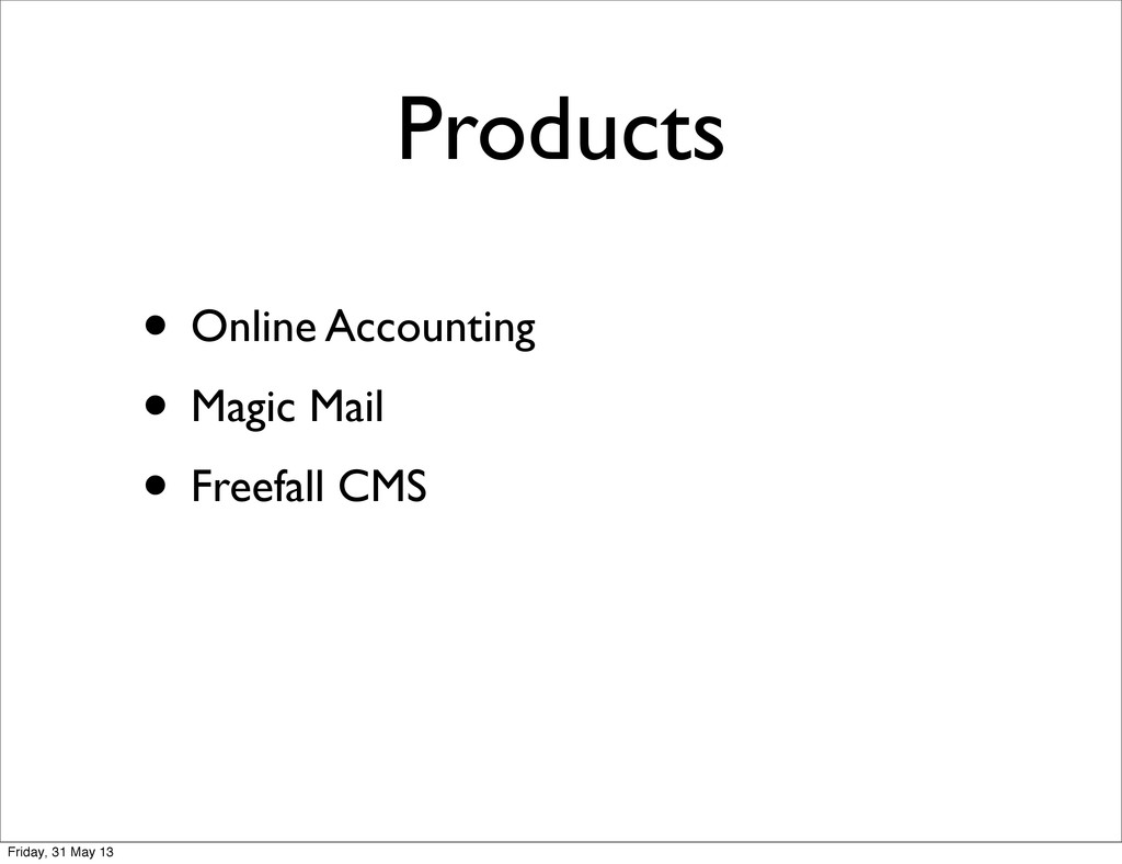 Products • Online Accounting • Magic Mail • Fre...