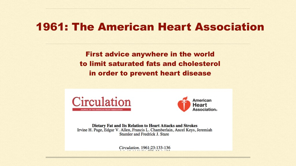 1961: The American Heart Association First advi...