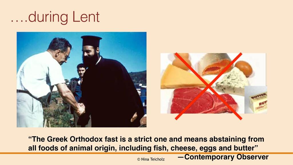 """© Nina Teicholz ….during Lent """"The Greek Orthod..."""