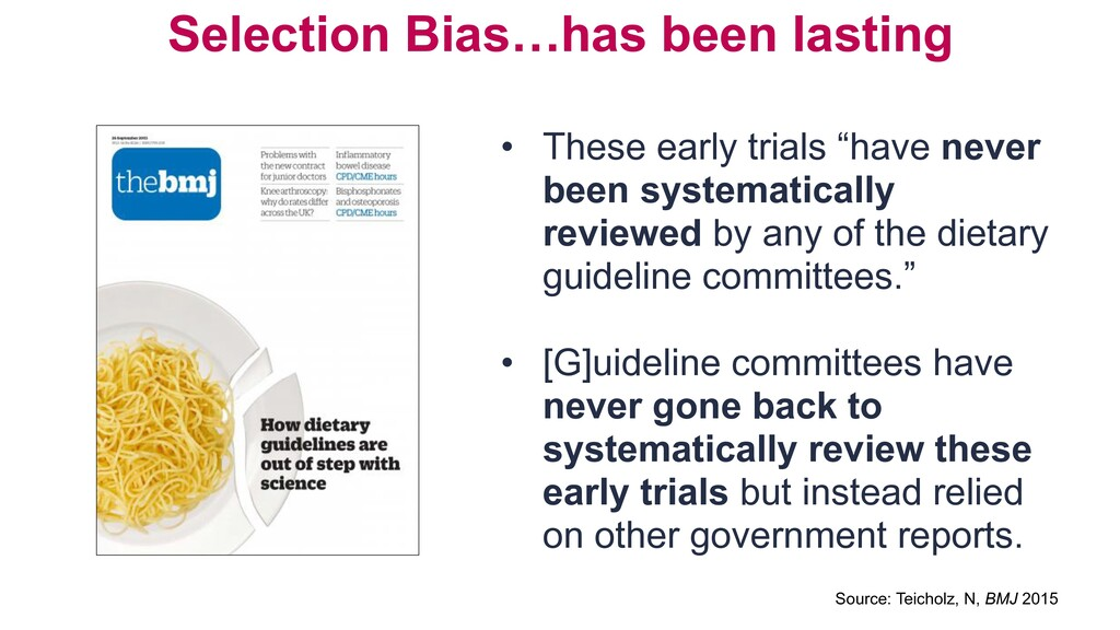 Selection Bias…has been lasting • These early t...