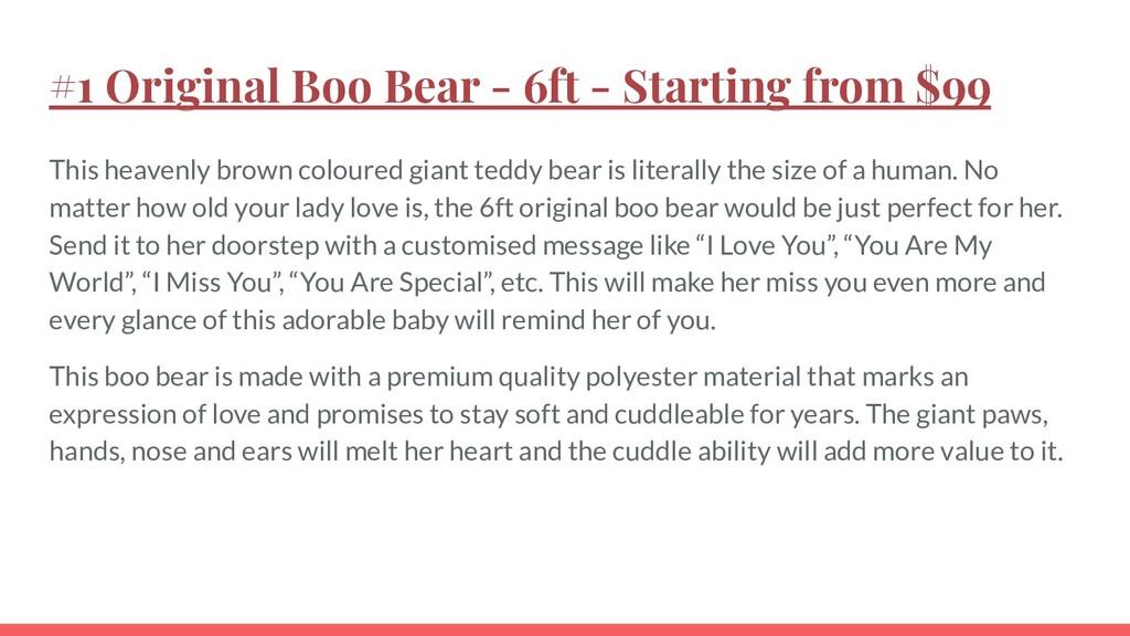 #1 Original Boo Bear - 6ft - Starting from $99 ...