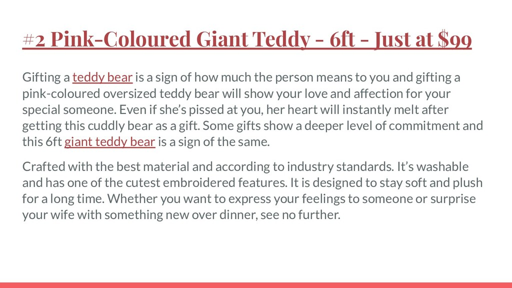 #2 Pink-Coloured Giant Teddy - 6ft - Just at $9...