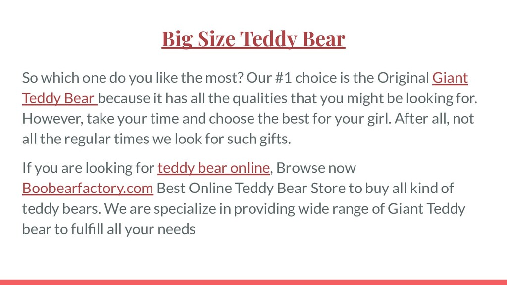 Big Size Teddy Bear So which one do you like th...