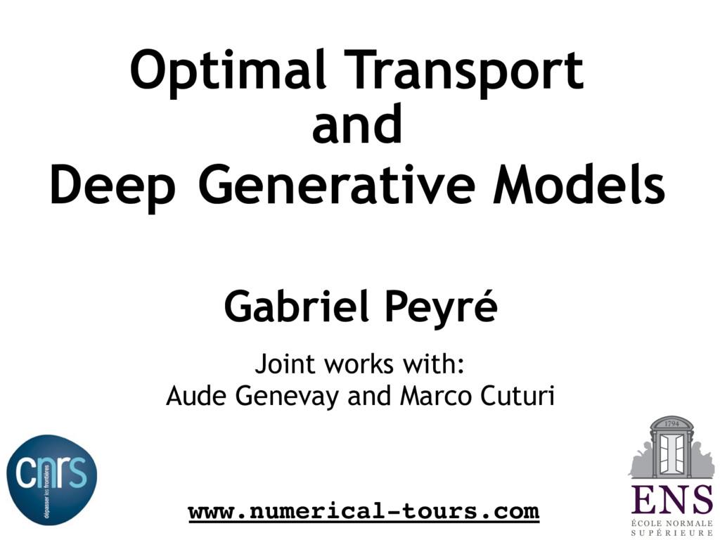 Optimal Transport and Deep Generative Models Ga...