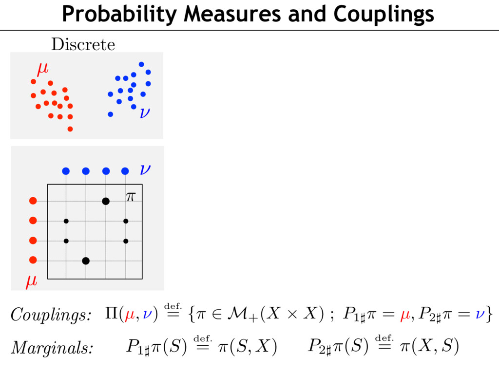 Probability Measures and Couplings Couplings: P...