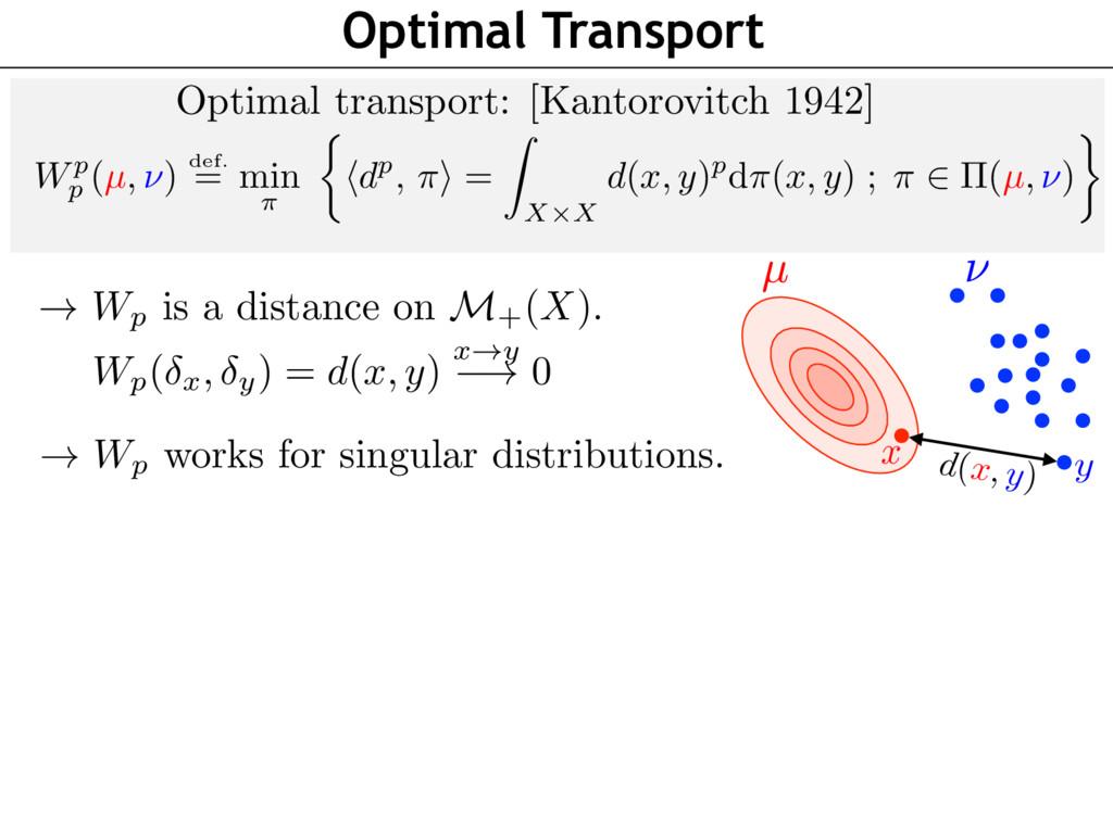 Optimal Transport Optimal transport: [Kantorovi...