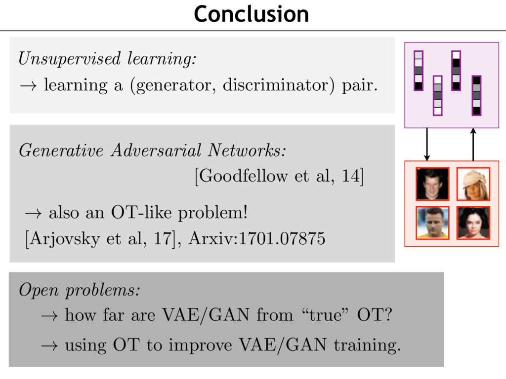 Conclusion Unsupervised learning: ! learning a ...