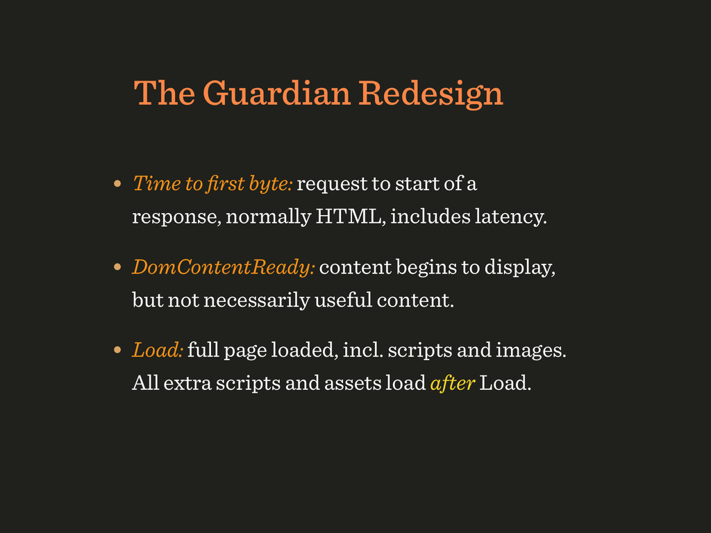 The Guardian Redesign • Time to first byte: requ...