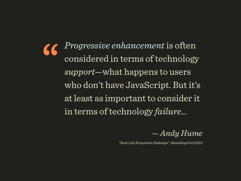 """Progressive enhancement is often considered in..."