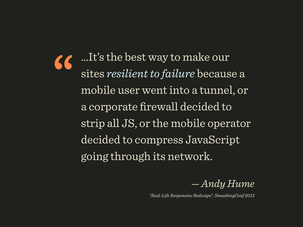 """…It's the best way to make our sites resilient..."