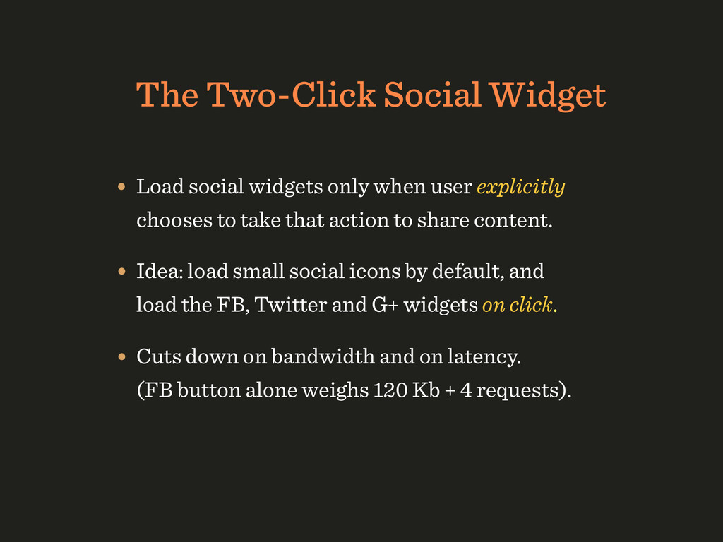 The Two-Click Social Widget • Load social widge...