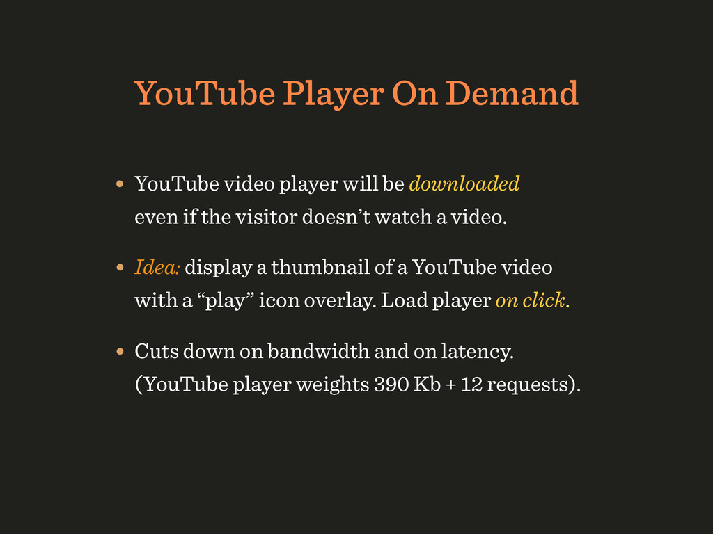 YouTube Player On Demand • YouTube video player...
