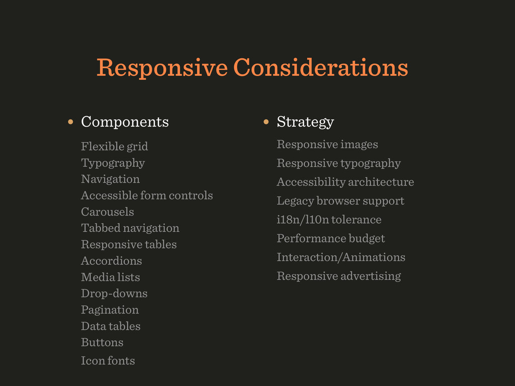 Responsive Considerations • Components  Flexi...