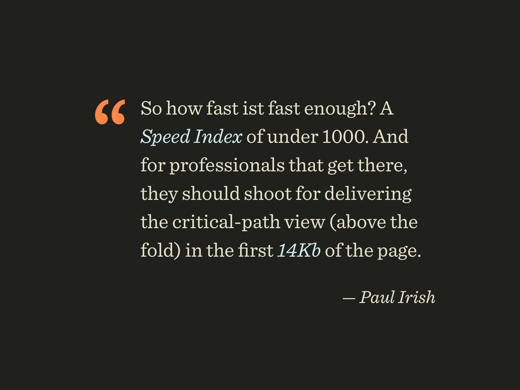 """So how fast ist fast enough? A Speed Index of ..."