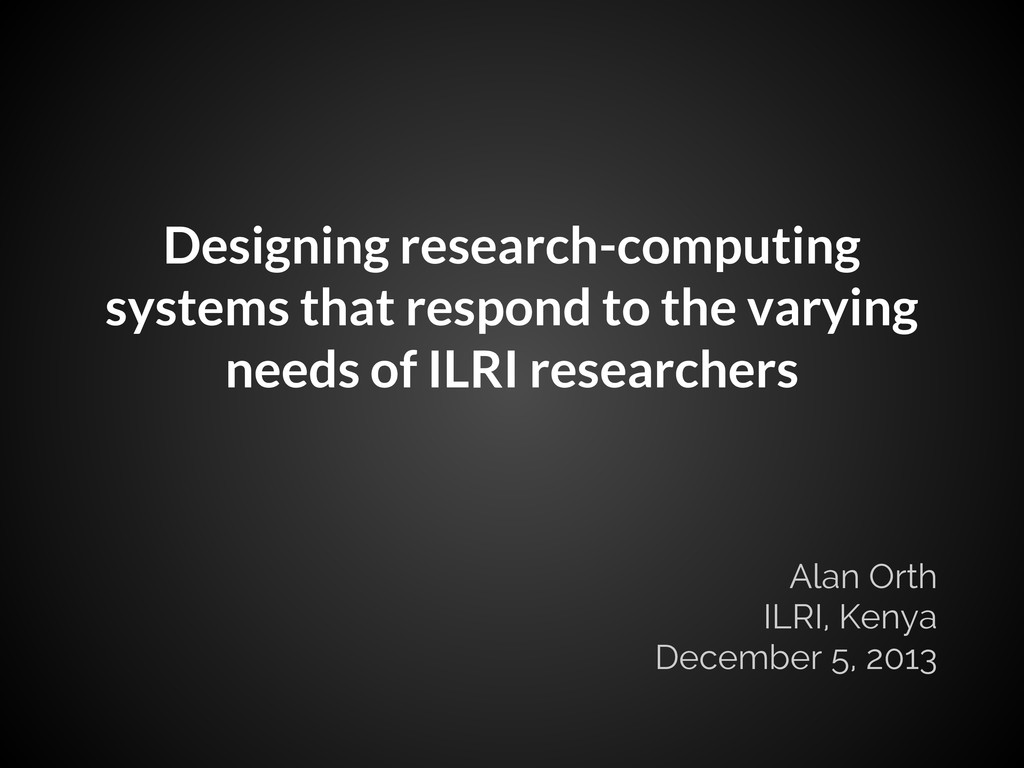 Designing research-computing systems that respo...