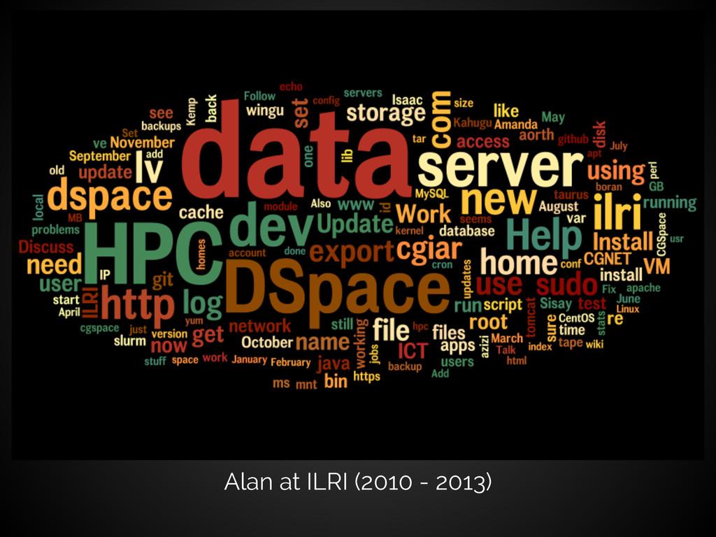 Alan at ILRI (2010 - 2013)