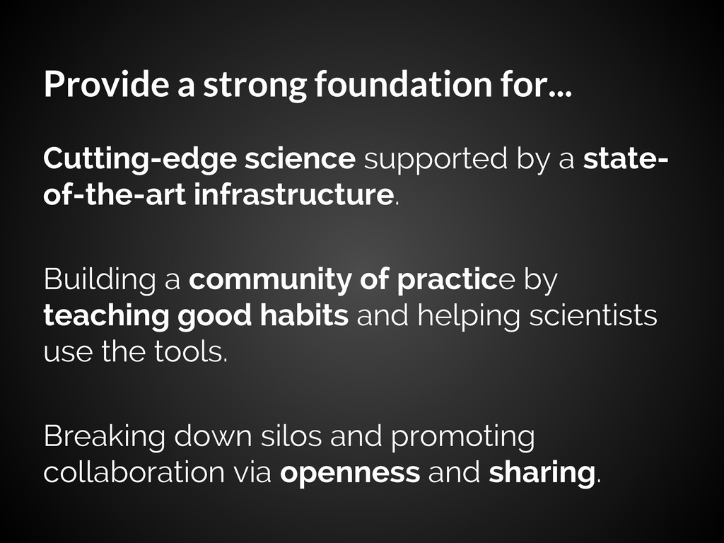 Provide a strong foundation for... Cutting-edge...