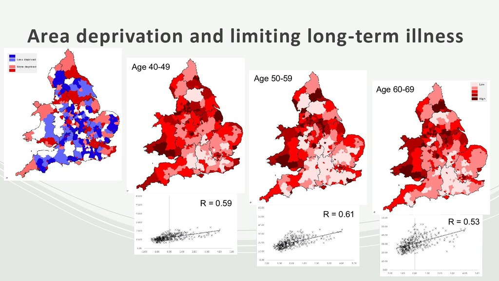 Area deprivation and limiting long-term illness...