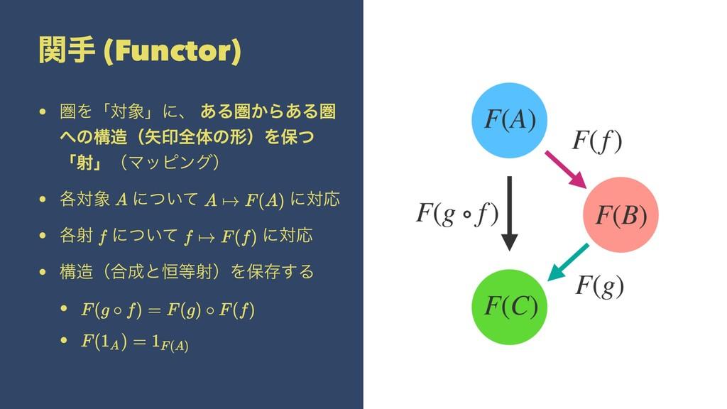 ؔख (Functor) • ݍΛʮରʯʹɺ ͋Δݍ͔Β͋Δݍ ͷߏʢҹશମͷܗʣΛอ...