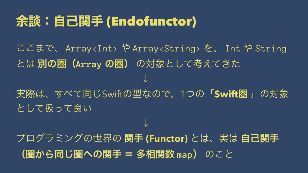 ༨ஊɿࣗݾؔख (Endofunctor) ͜͜·Ͱɺ Array<Int>  Array<...