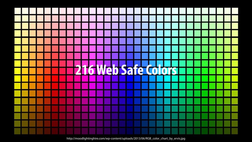 216 Web Safe Colors http://moodlightinghire.com...