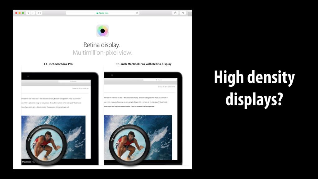 High density displays?