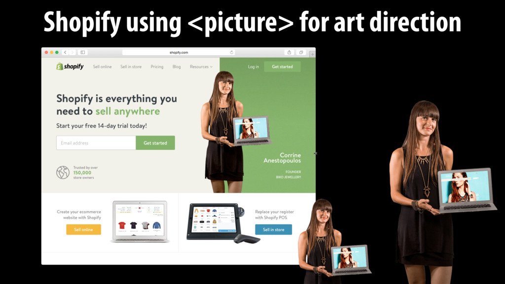 Shopify using <picture> for art direction