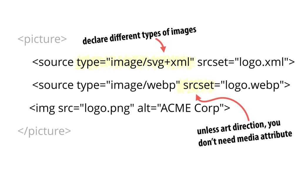 declare different types of images unless art dir...