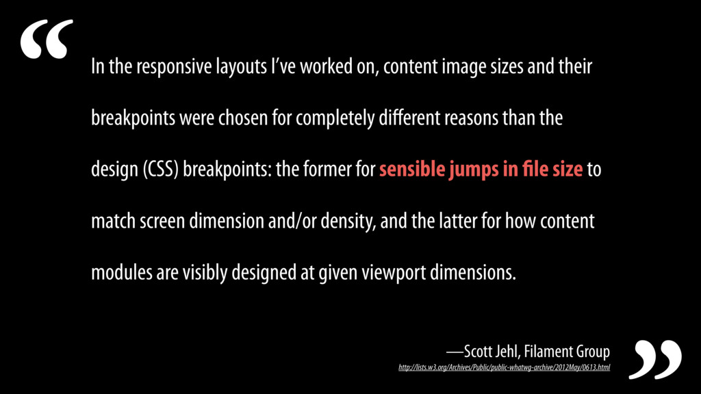 In the responsive layouts I've worked on, conte...