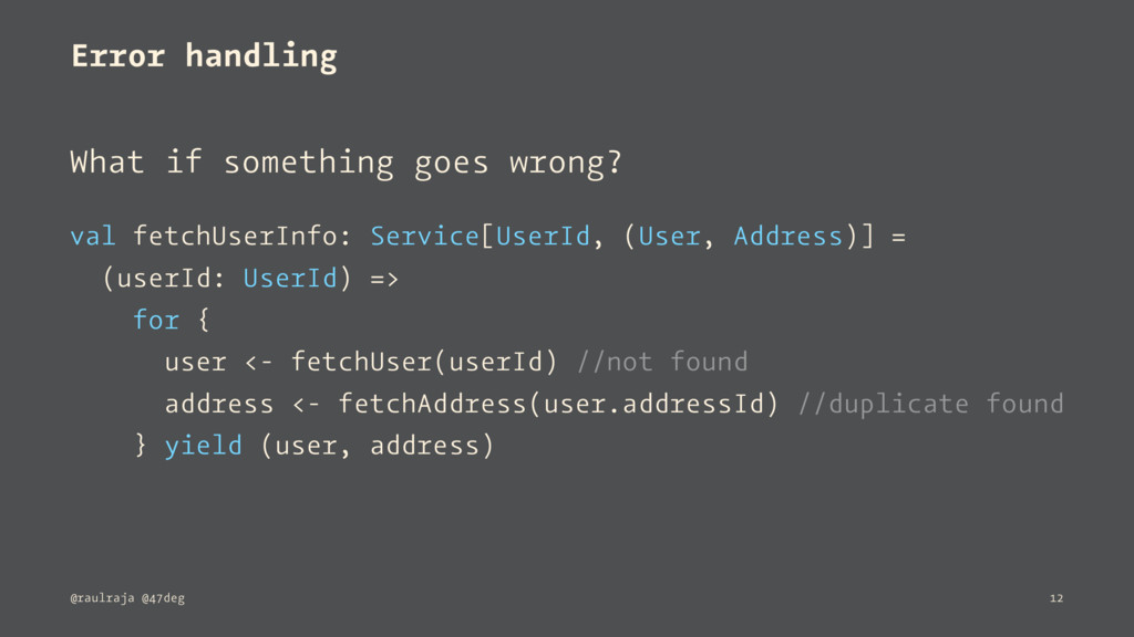 Error handling What if something goes wrong? va...