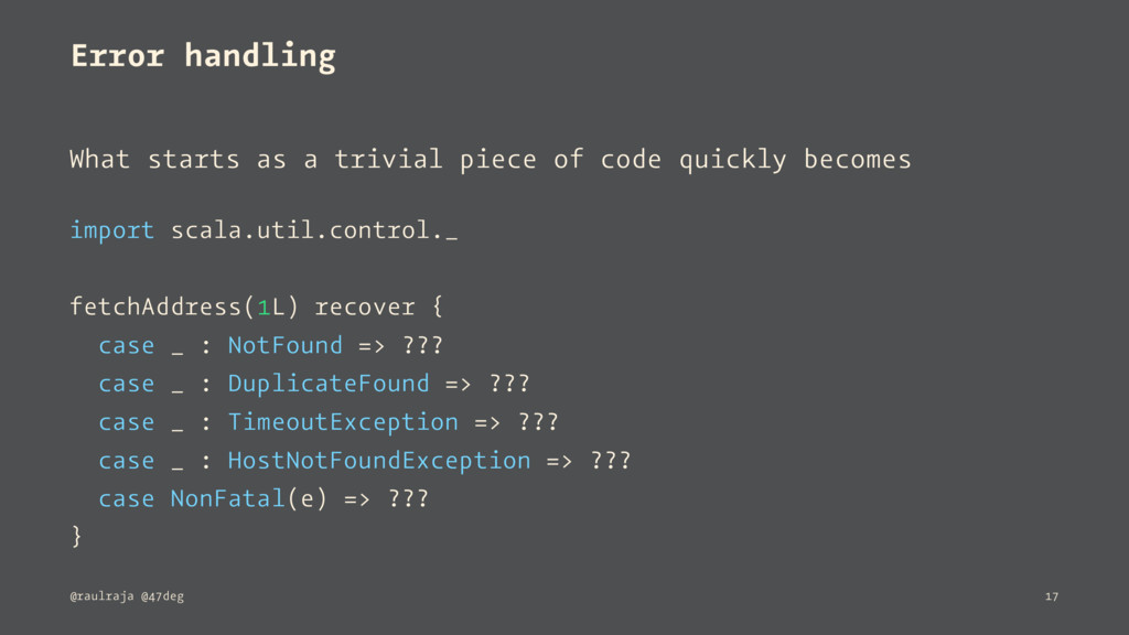 Error handling What starts as a trivial piece o...