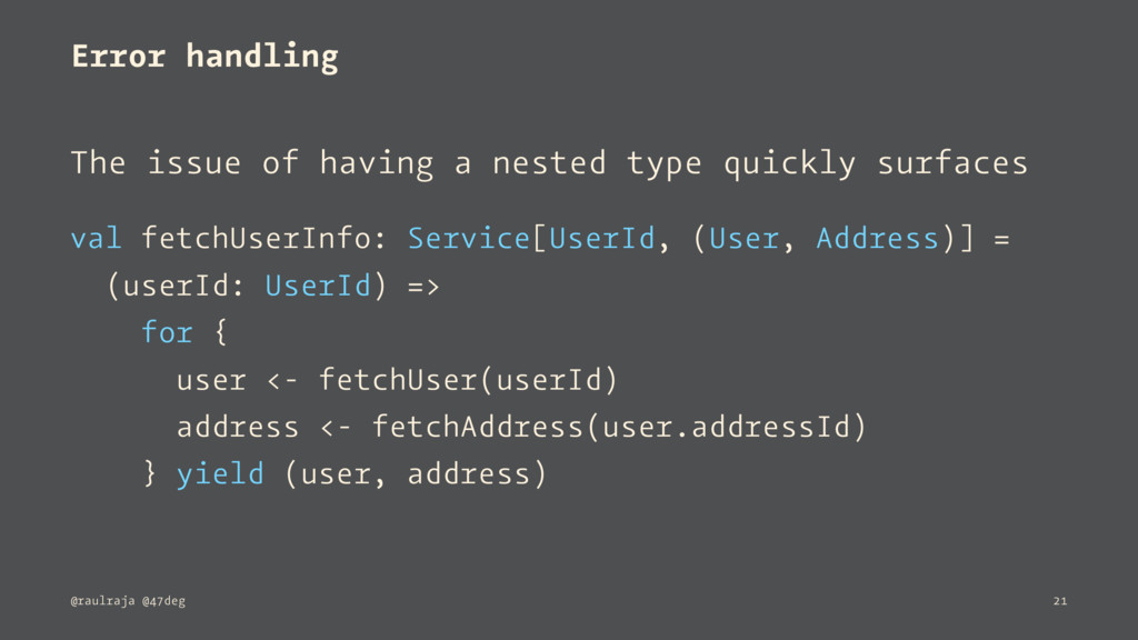 Error handling The issue of having a nested typ...