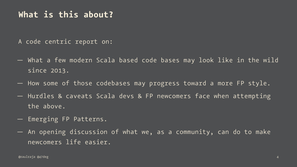 What is this about? A code centric report on: —...