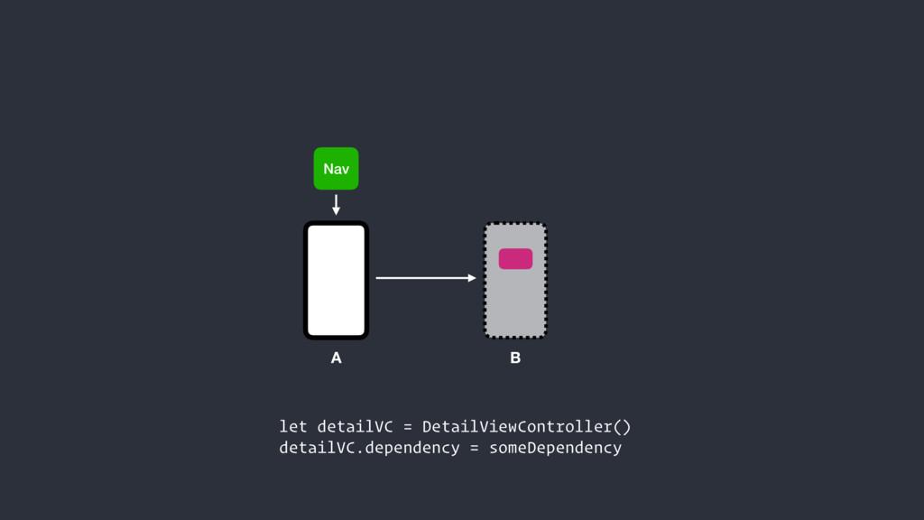 Nav let detailVC = DetailViewController() detai...