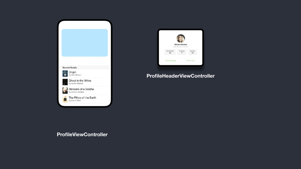 ProfileViewController ProfileHeaderViewController
